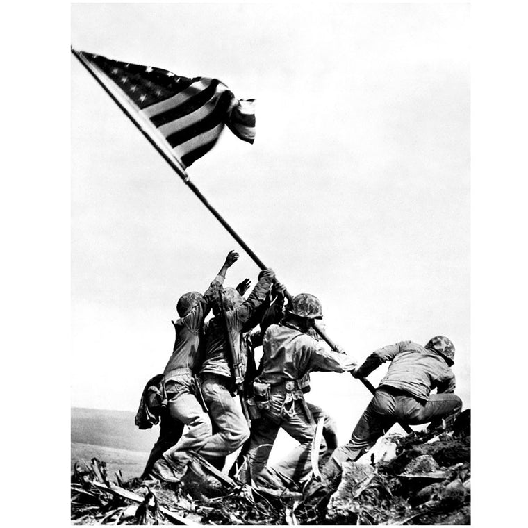 American Marines Raising Flag