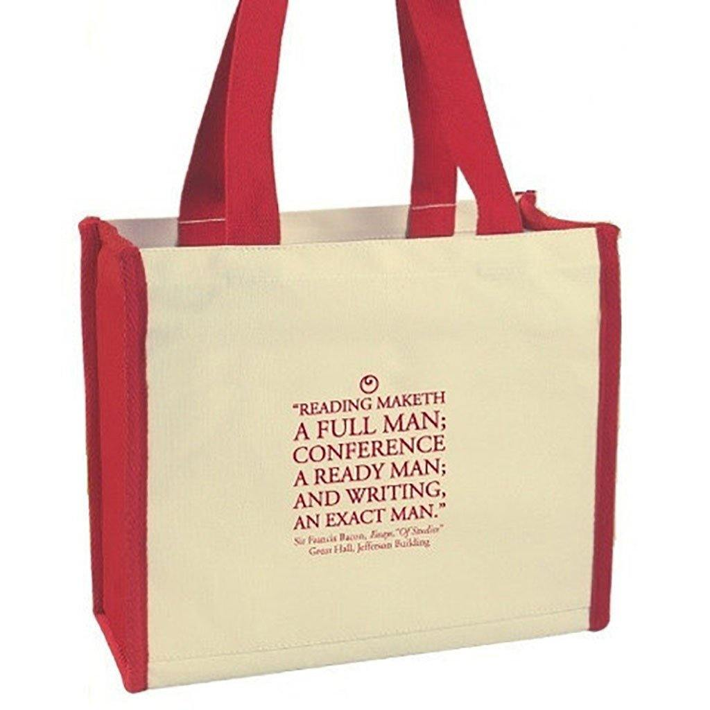 """Reading Maketh"" Quote Tote - Library of Congress Shop"