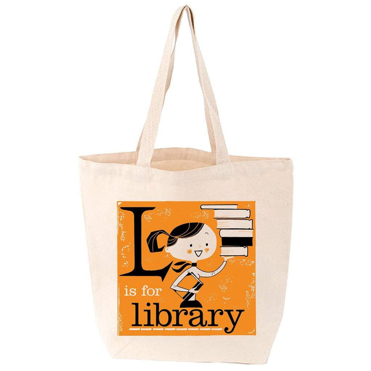 L is for Library Tote Bag