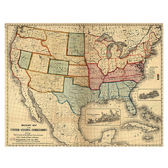 Military map of the United States & Territories
