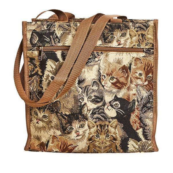 Cat Tapestry Tote - Library of Congress Shop