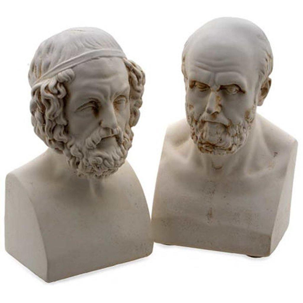 Aristotle and Homer Bookends - Library of Congress Shop