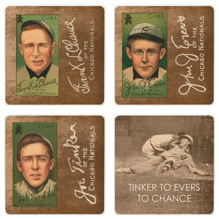 Baseball Card Coaster Set