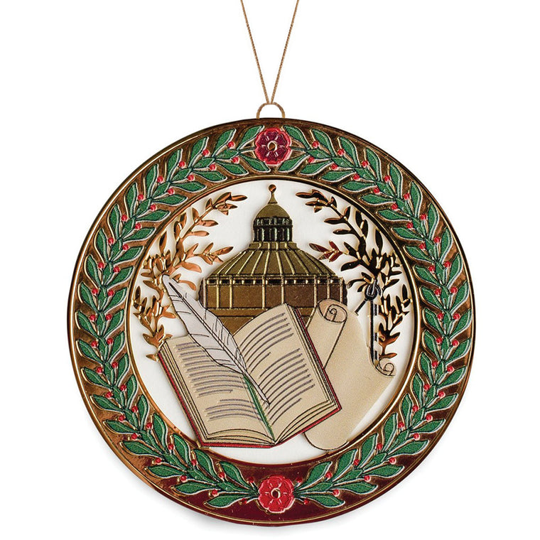 Library of Congress Book and Scroll Ornament