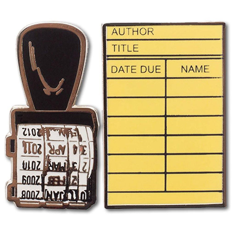 Stamp & Library Card Lapel Pin Set