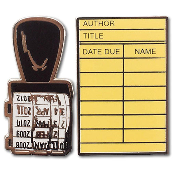 Stamp & Library Card Lapel Pin Set - Library of Congress Shop