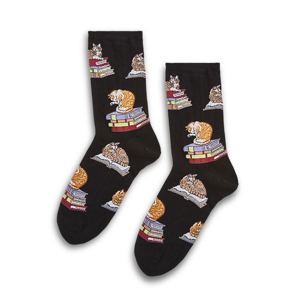 Cat on Books Socks - Library of Congress Shop