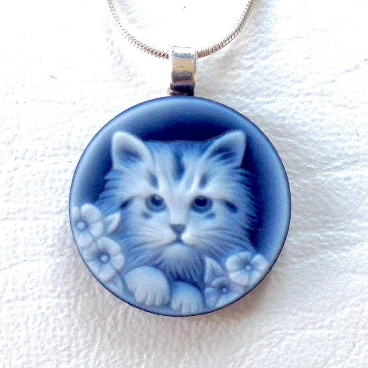 Kitten Cameo Necklace