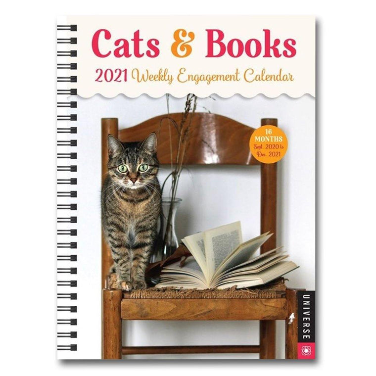 Cats & Books 2021 Weekly Engagement Calendar