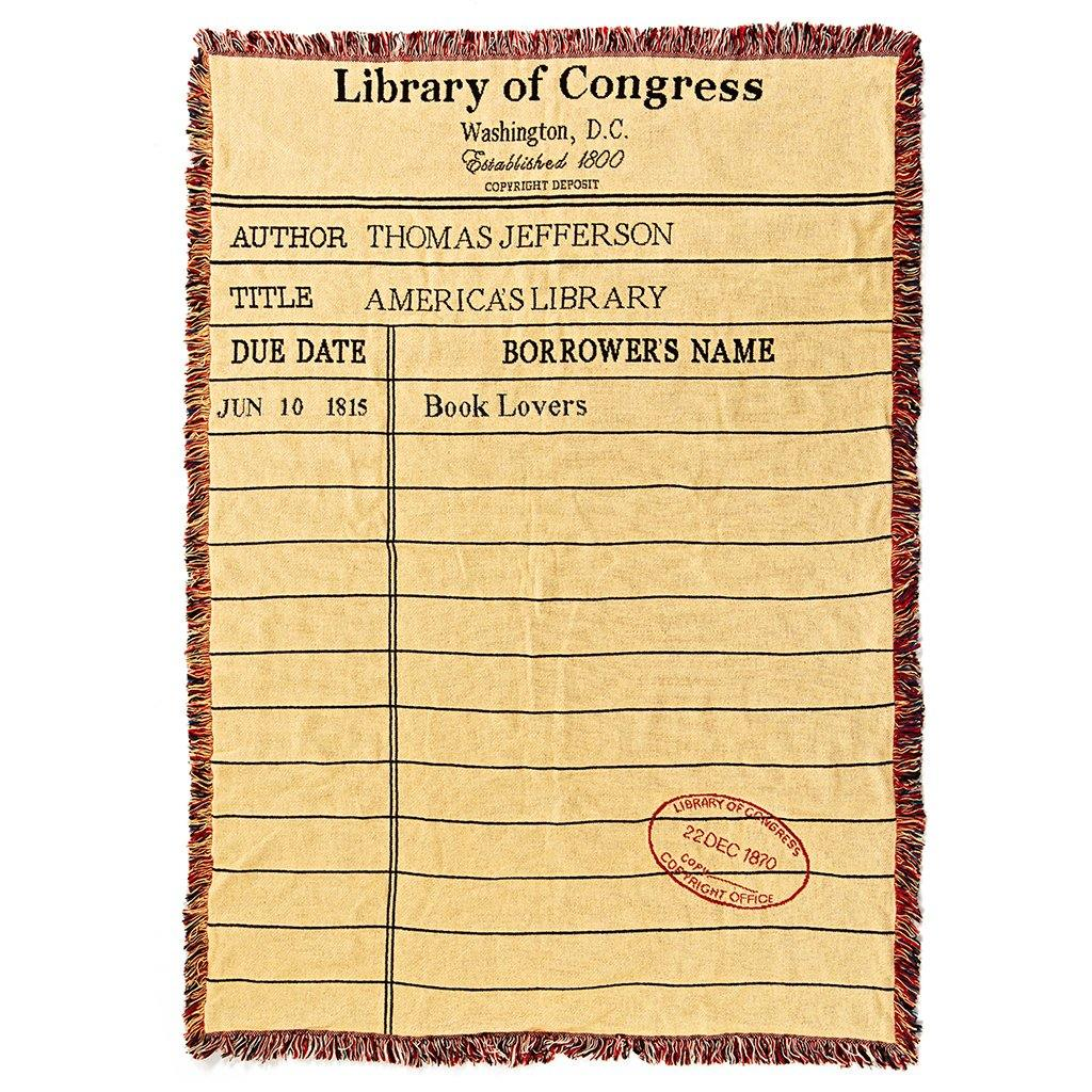 Library Card Throw - Library of Congress Shop