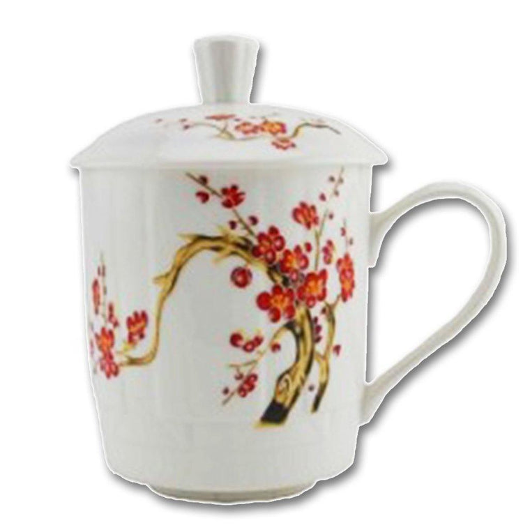 Cherry Blossom Mug with Lid