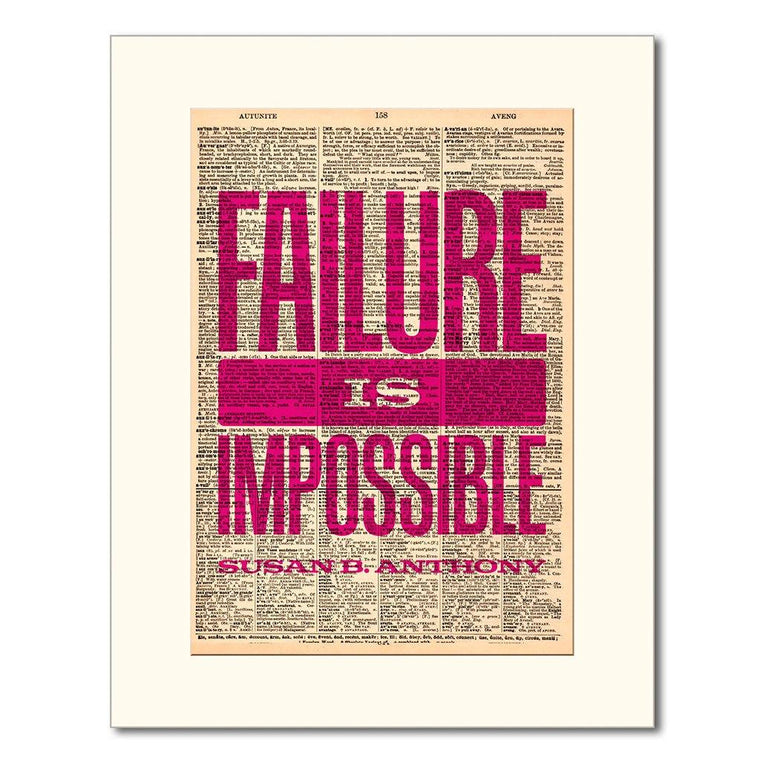 Failure is Impossible Dictionary Print