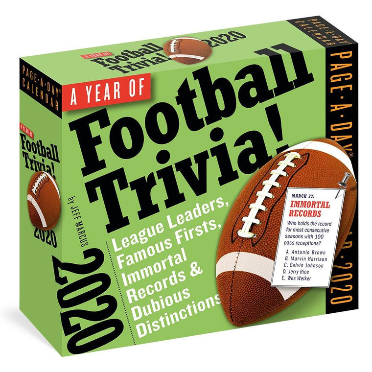 A Year of Football Trivia 2020 Calendar