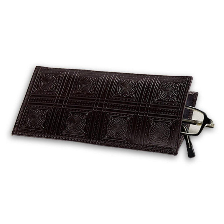 Mosaic Leather Eyeglass Case