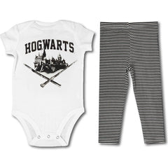 Harry Potter Hogwarts Bodysuit Pants Onesie - Library of Congress Shop