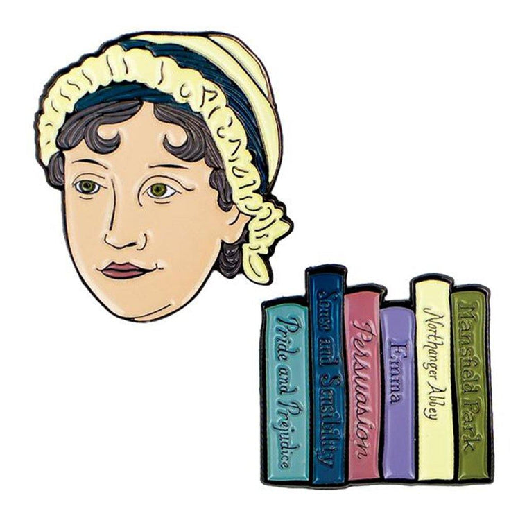 Jane Austen Pin Set