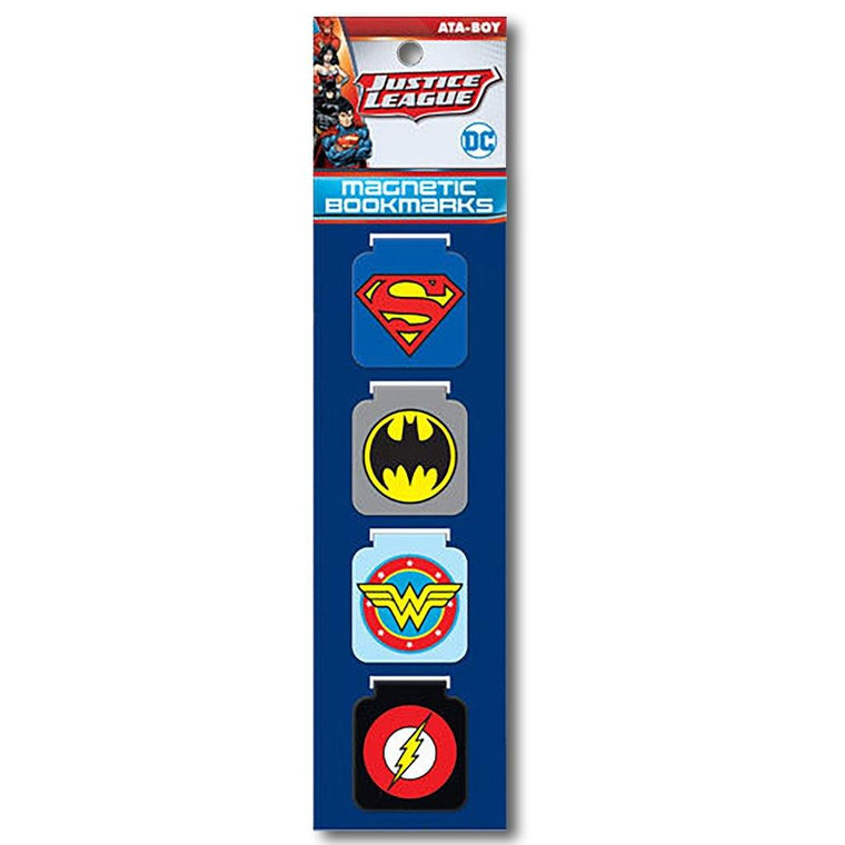 Justice League Magnetic Bookmarks