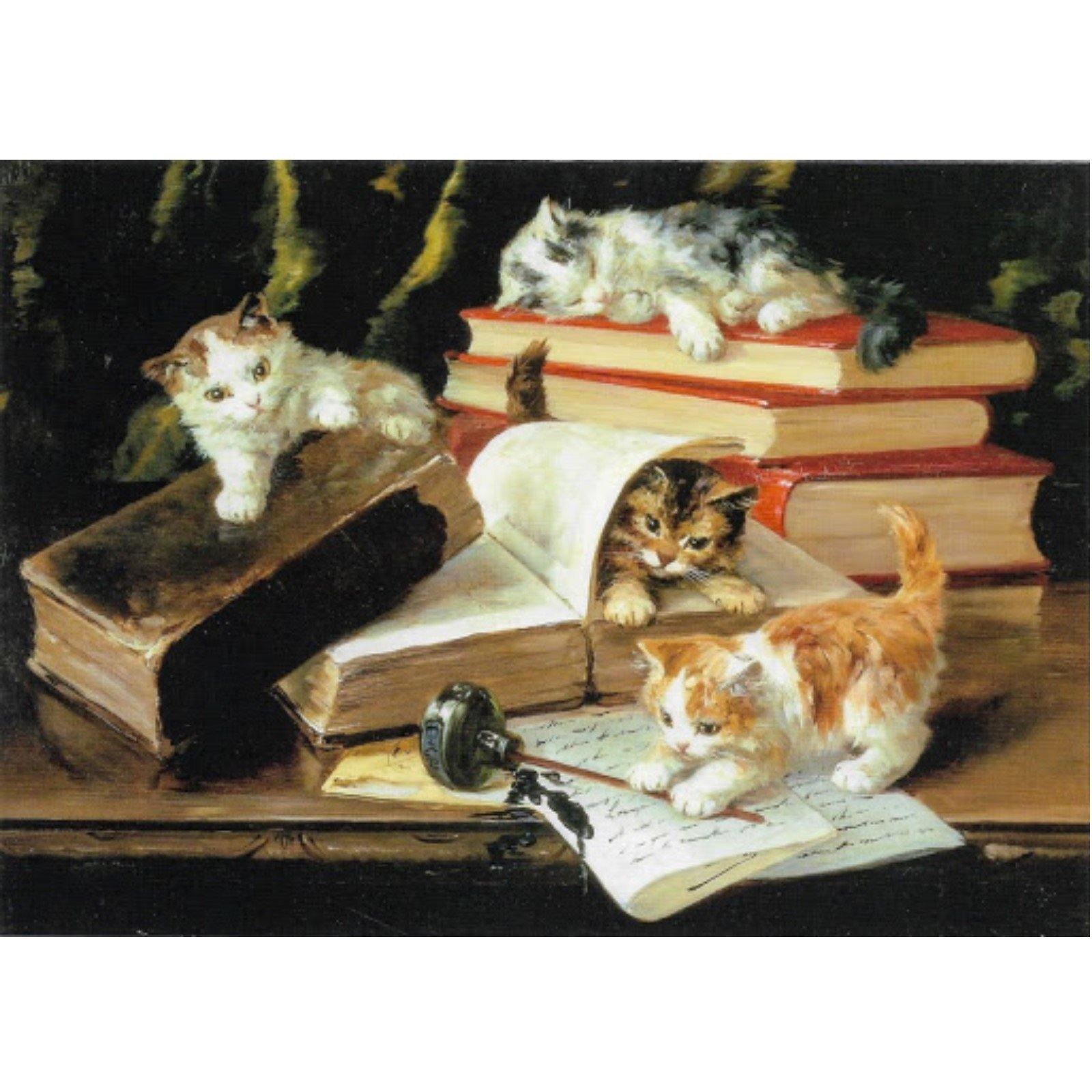 Kittens on Desk Notecard