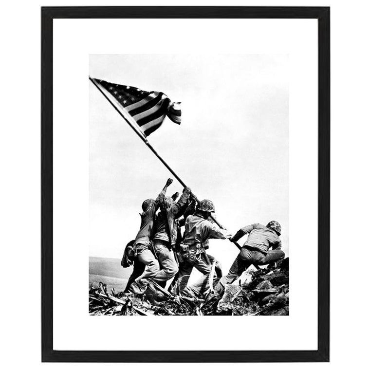 Marines Raising Flag Print