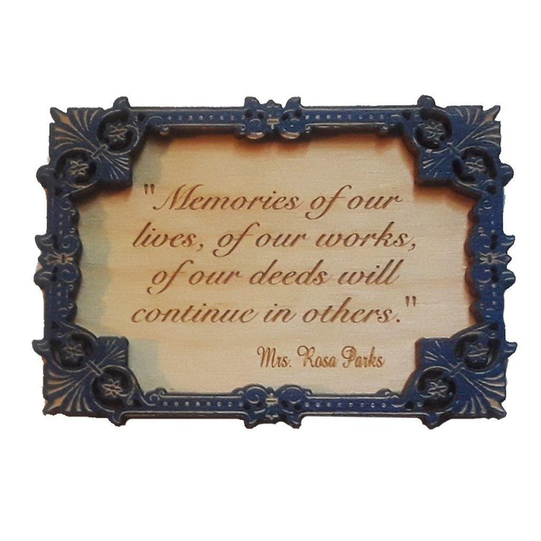 Rosa Parks Memories Quote Magnet