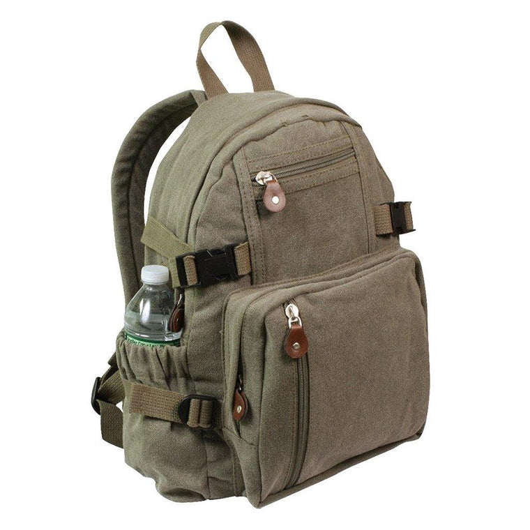 Vintage Military Mini Backpack