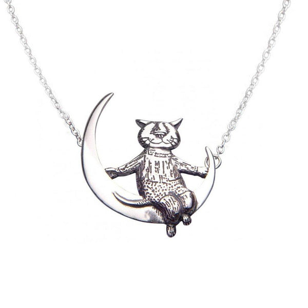 Gorey Cat Necklace - Library of Congress Shop