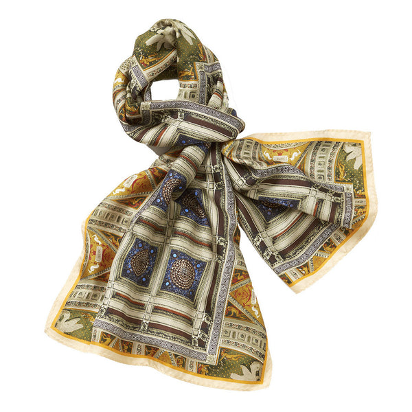 Great Hall Mosaic Silk Scarf - Library of Congress Shop