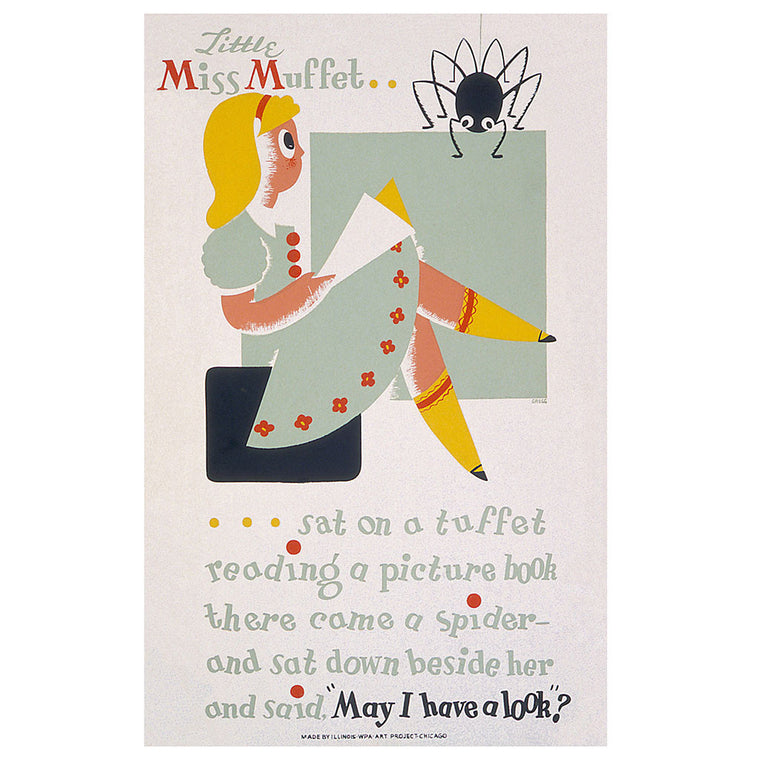 Little Miss Muffet Print