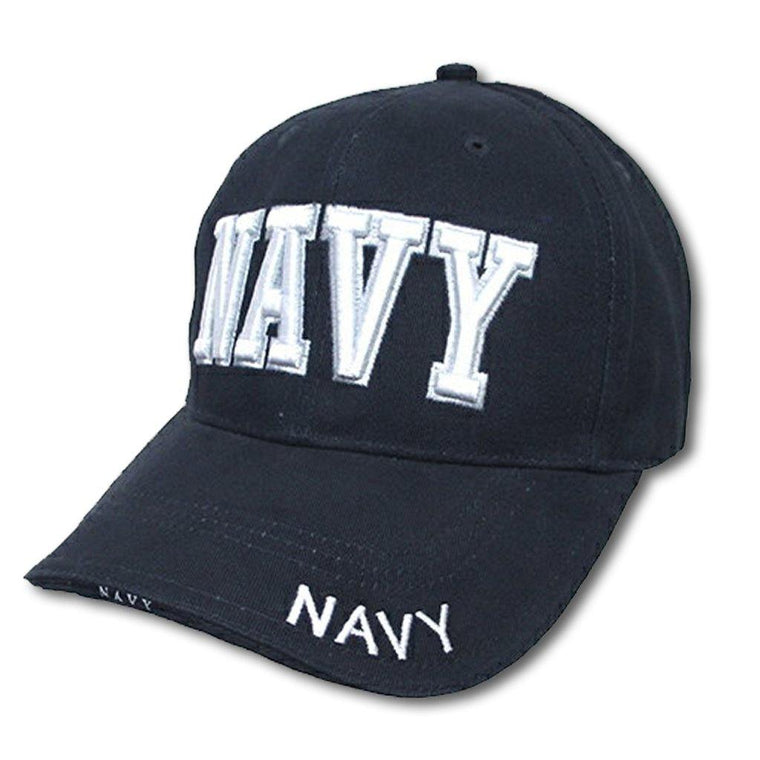 Navy Embroidered Baseball Cap