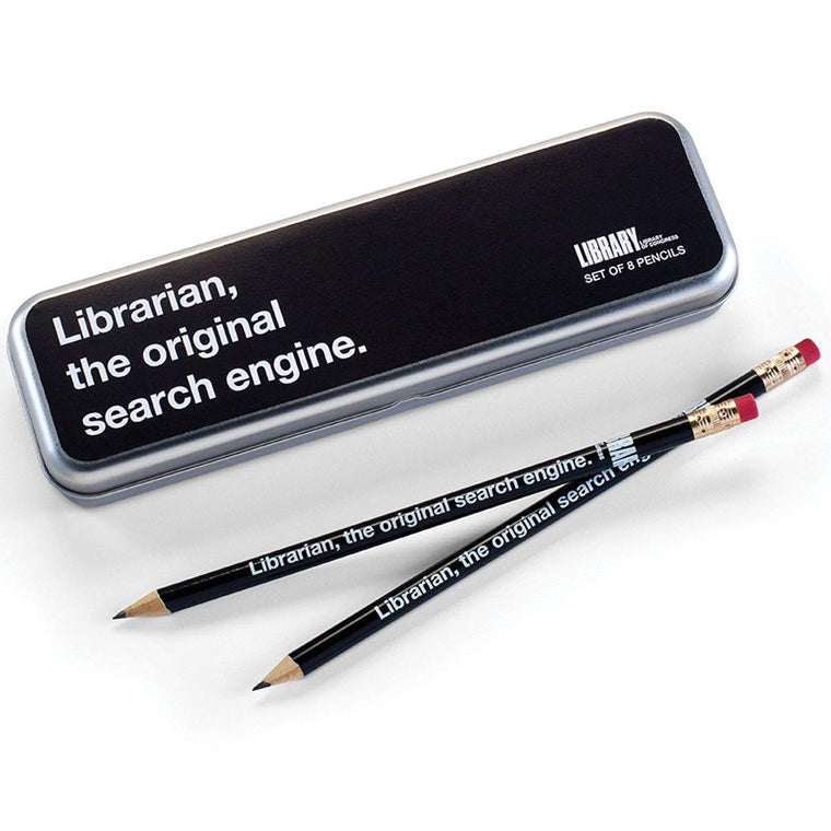 Search Engine Librarian Pencil Set