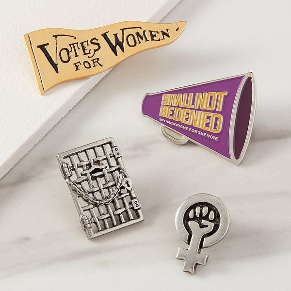 Women's Suffrage Megaphone Pin - Library of Congress Shop