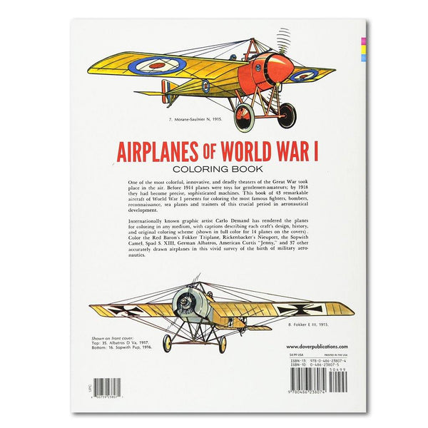 Airplanes of World War I Coloring Book - Library of Congress Shop