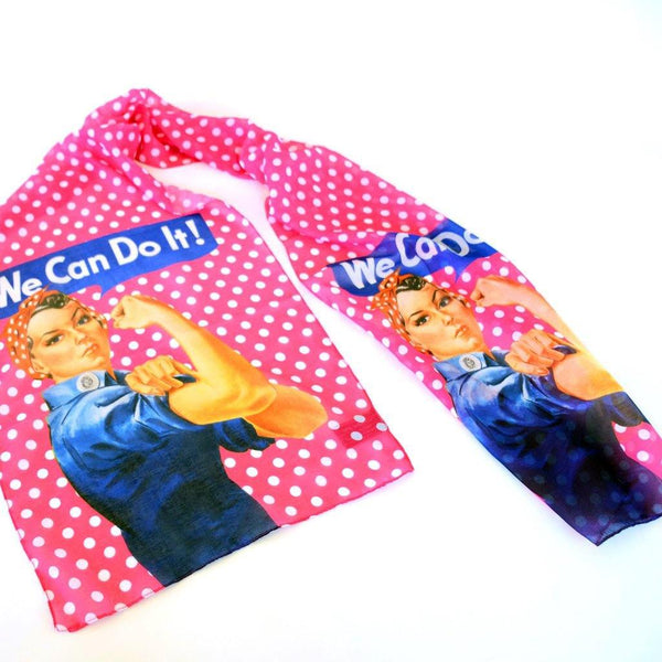 Rosie th Riveter Pink Scarf