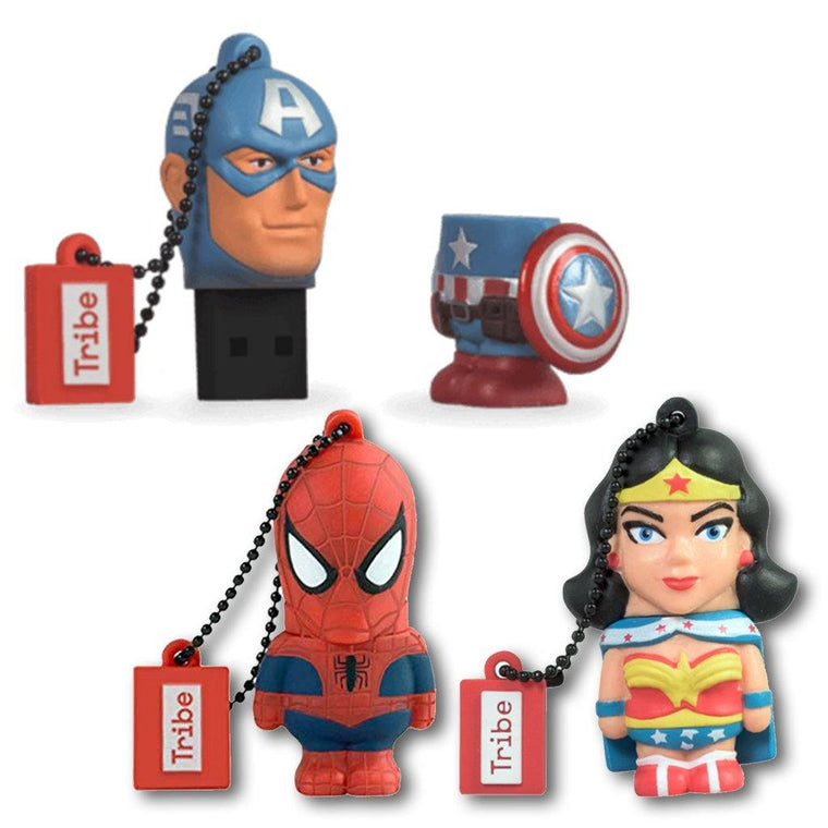 Superhero Flash Drive Keyring