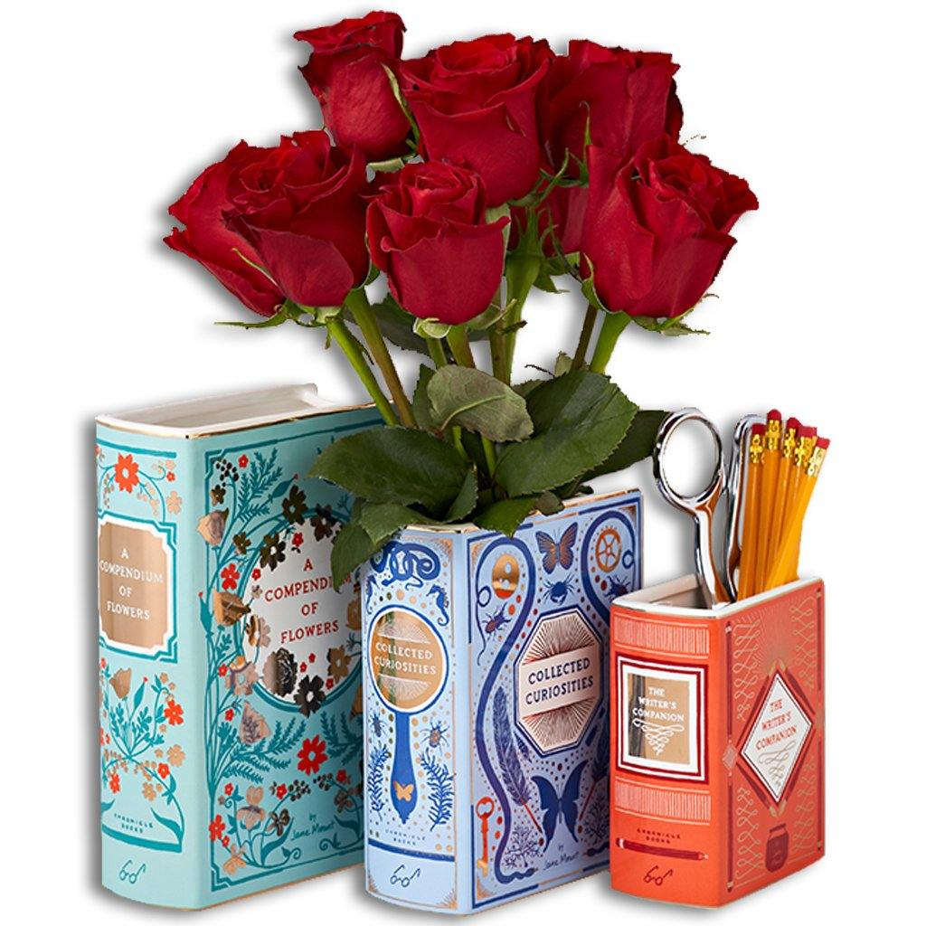 Book Charm Vases - Library of Congress Shop