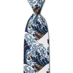 Great Wave Tie - Library of Congress Shop