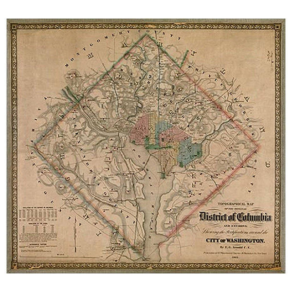 District of Columbia Map - Library of Congress Shop