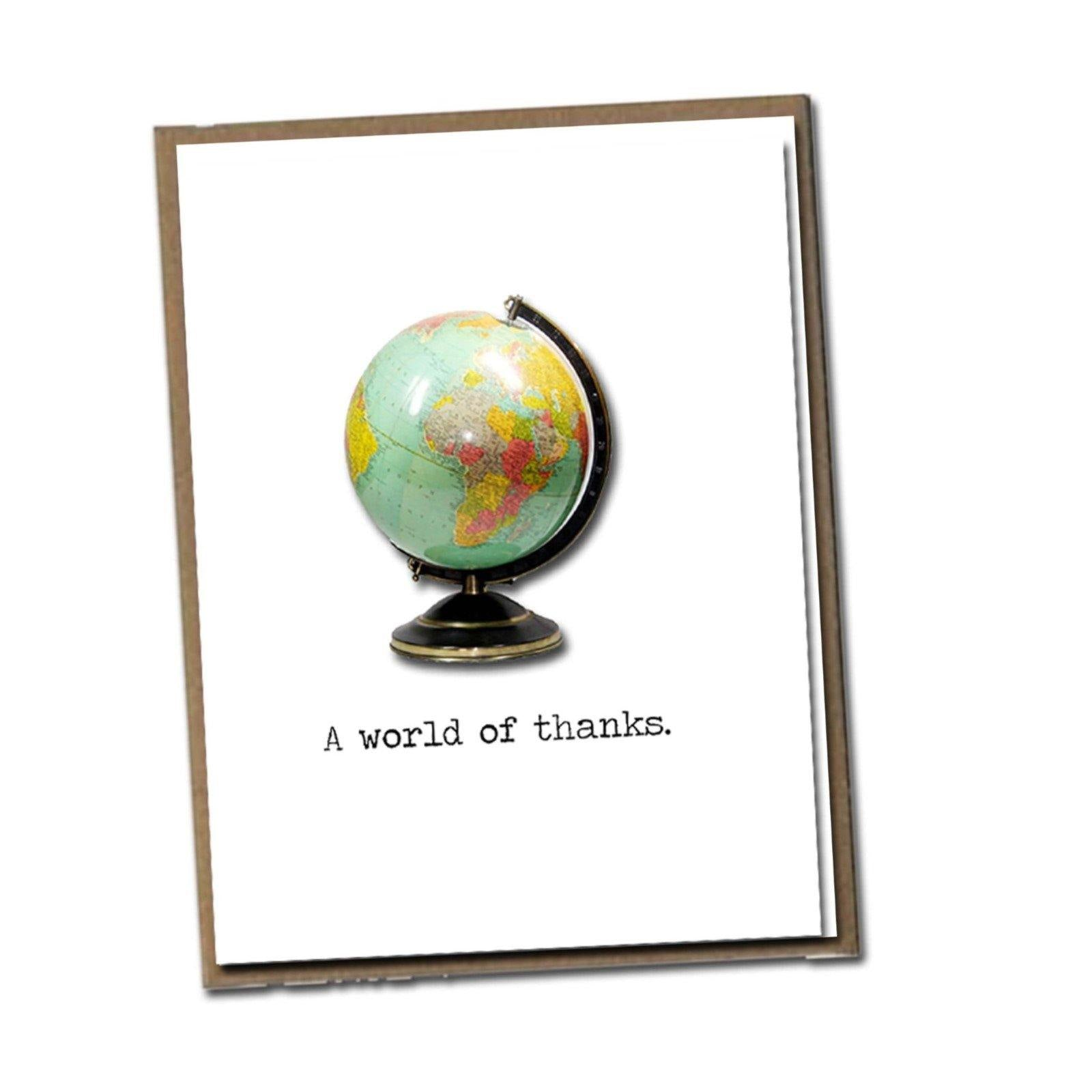 World of Thanks Card