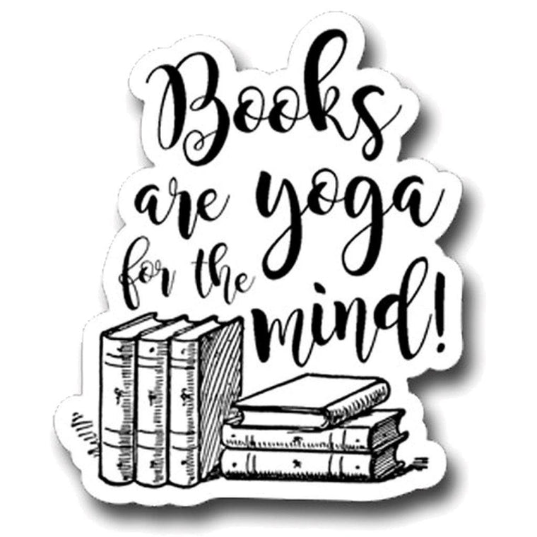 Books Are Yoga Sticker