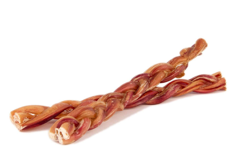 Load image into Gallery viewer, Braided Bully Sticks 12 inch Thin