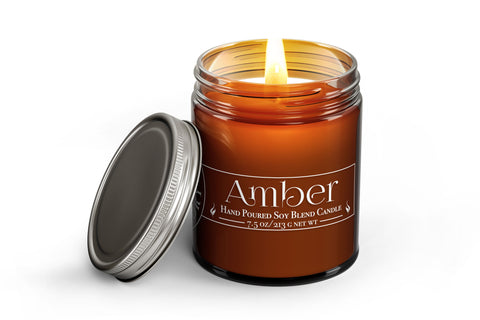 Amber - Wood Wick Candle