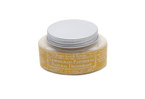 Lemongrass Patchouli Natural Deodorant - 4 oz.