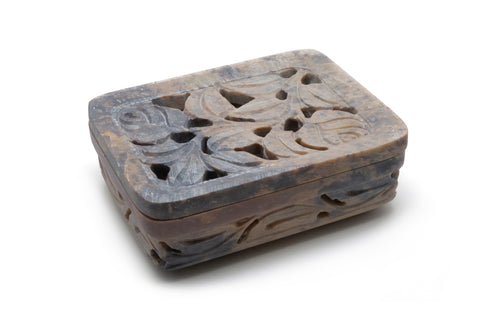 Rosebud - Carved Soapstone Soap Dish