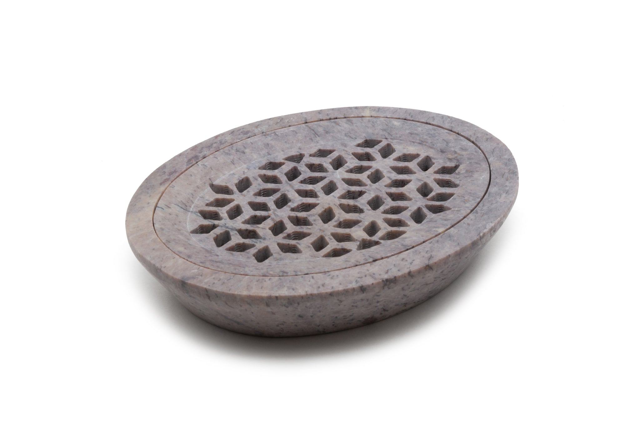 Oval - Carved Soap Stonesoap Dish