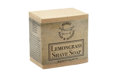 Lemongrass Shave Soap - 4.5 oz.