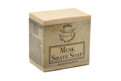 Musk Shave Soap - 4.5 oz.