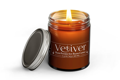 Vetiver - Wood Wick Candle