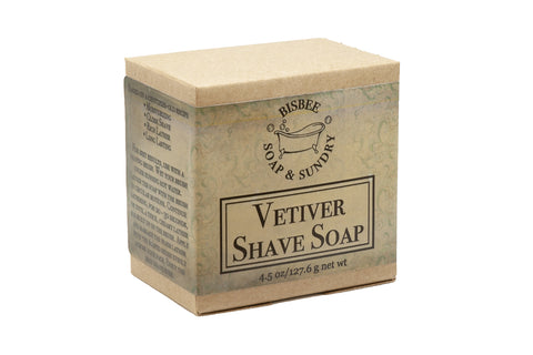 Vetiver Shave Soap - 4 oz.