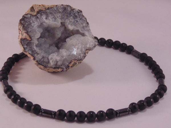 Boreas - Onyx & Hematite Necklace
