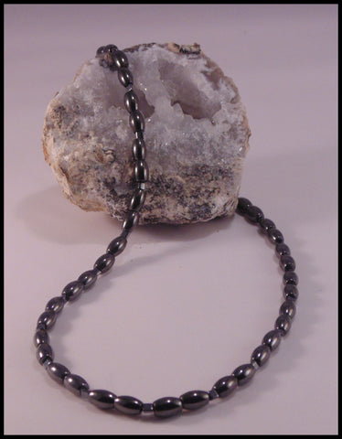 Hypnos - Magnetic Hematite Necklace